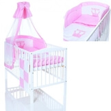 Baby Prinzessin Bett mit Matratze und Mädchen Bettwäsche Komplettset