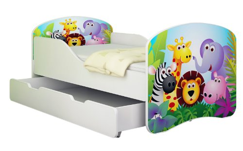 clamaro 39 traumland 39 motiv kinderbett komplett set mit rausfallschutz prinzessin. Black Bedroom Furniture Sets. Home Design Ideas