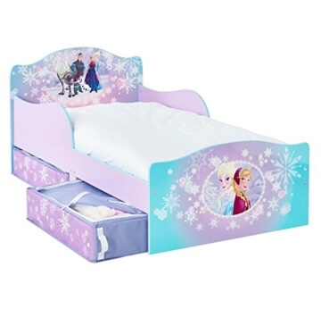 Disney Frozen Kinderbett mit Seitenteile und Stoffschubladen 509FRN