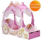 Disney Princess Carriage Kleinkind Bett + Voll Gefederte Matratze