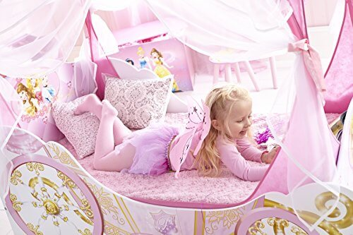 disney princess kutsche bett f r kleinkinder mit aufbewahrungsschublade prinzessin. Black Bedroom Furniture Sets. Home Design Ideas