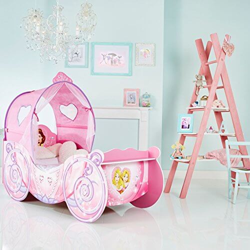 disney princess kutsche kinderbett mit licht prinzessin. Black Bedroom Furniture Sets. Home Design Ideas