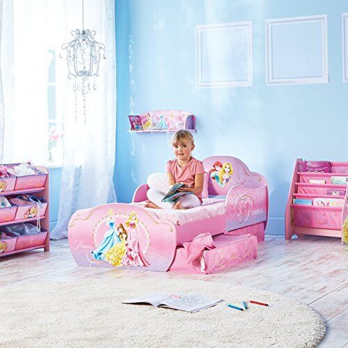 disney prinzessin kleinkinderbett mit unterbettkommode prinzessin. Black Bedroom Furniture Sets. Home Design Ideas