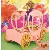Kinderbett Bett mit Matratze Kutsche für Prinzessin rosa