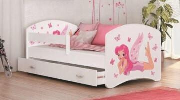 LUCKY Prinzessin Bett mit Matratze,Lattenrost,Schublade verschiedene Varianten -