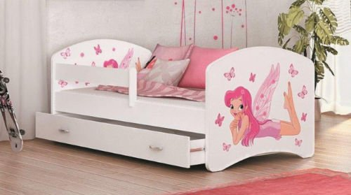 lucky prinzessin bett mit matratze lattenrost schublade. Black Bedroom Furniture Sets. Home Design Ideas