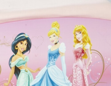 Worlds Apart 499DIR Disney Princess Kinderbett mit Aufbewahrung und Nachtisch