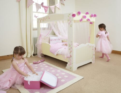 worlds apart prinzessin kinder himmelbett mit rosen 452fps01 prinzessin. Black Bedroom Furniture Sets. Home Design Ideas