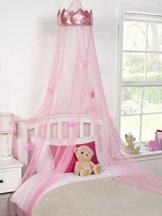 Betthimmel gesetzt Mädchen Betthimmel Kronprinzessin, 30cm x 230cm, rosa