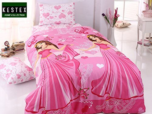 bettw sche prinzessin girls pink 100 baumwolle. Black Bedroom Furniture Sets. Home Design Ideas