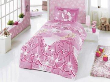 Kinderbettwäsche Prinzessin 135×200 cm – 80×80 cm kissenbezug Linon -