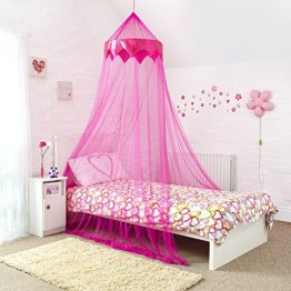 Pink Bed Canopy Mit Satin Panel