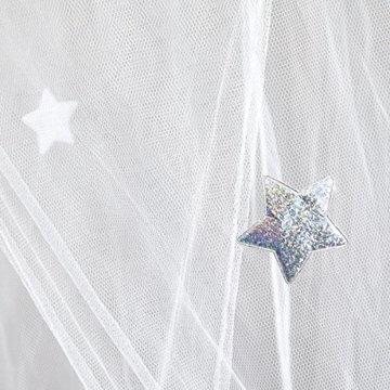 Prinzessin Betthimmel Moskitonetz mit Glänzend Silber Sterne